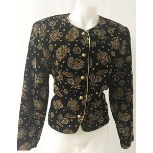 Black & Gold Top Size 10